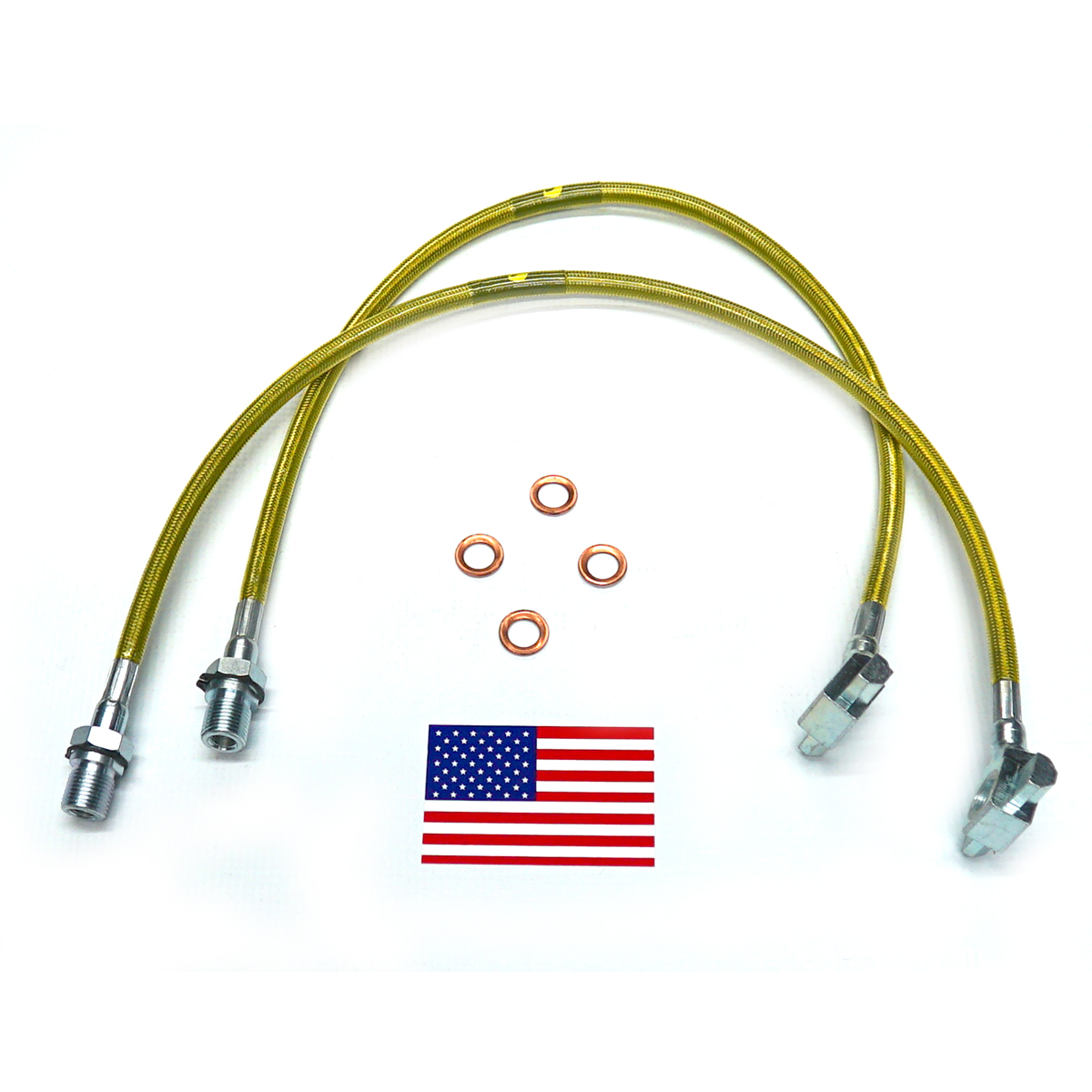 Bullet Proof Brake Hoses - Front - 2003-2013 Dodge Ram ...