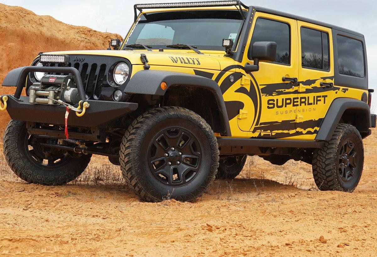 2007 2017 jeep wrangler jk 4 door 4 suspension lift kit k941 superlift. Black Bedroom Furniture Sets. Home Design Ideas